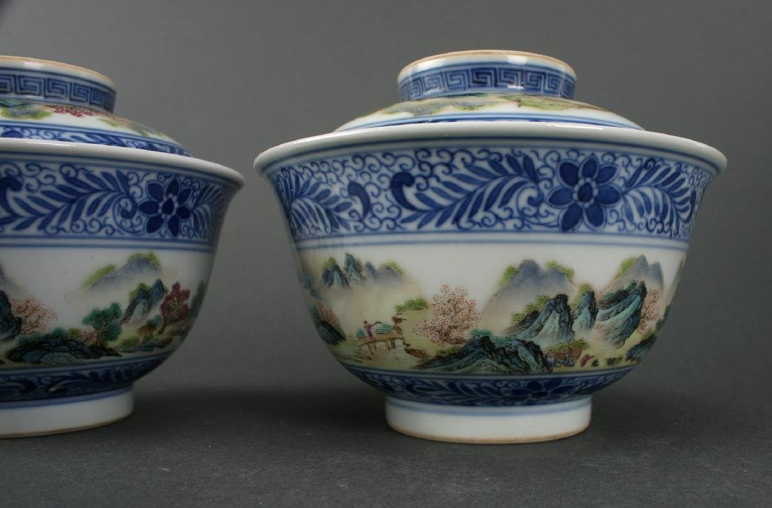 TWO LIDDED PORCELAIN RICE BOWLS IN BOX - 4