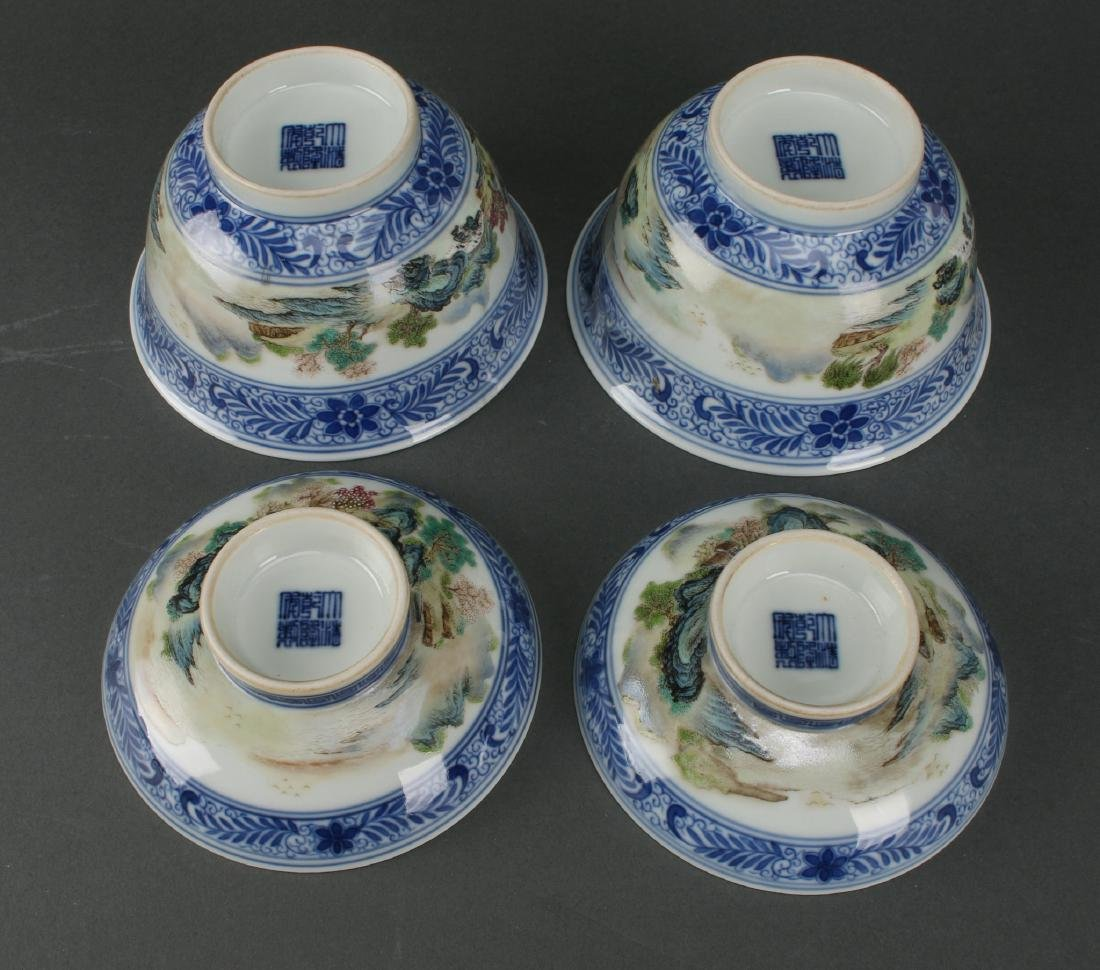 TWO LIDDED PORCELAIN RICE BOWLS IN BOX - 5