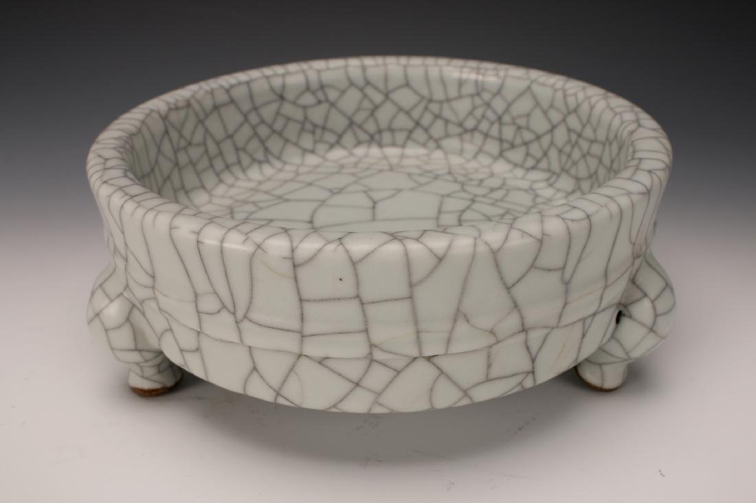CRACKLE GLAZED CENSER - 2