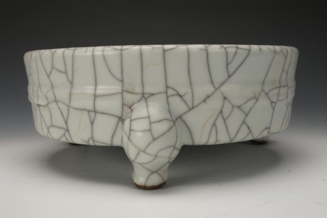CRACKLE GLAZED CENSER - 5