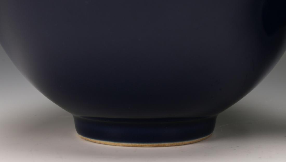 PAIR COBALT BLUE YONG ZHENG PORCELAIN BOWLS - 2