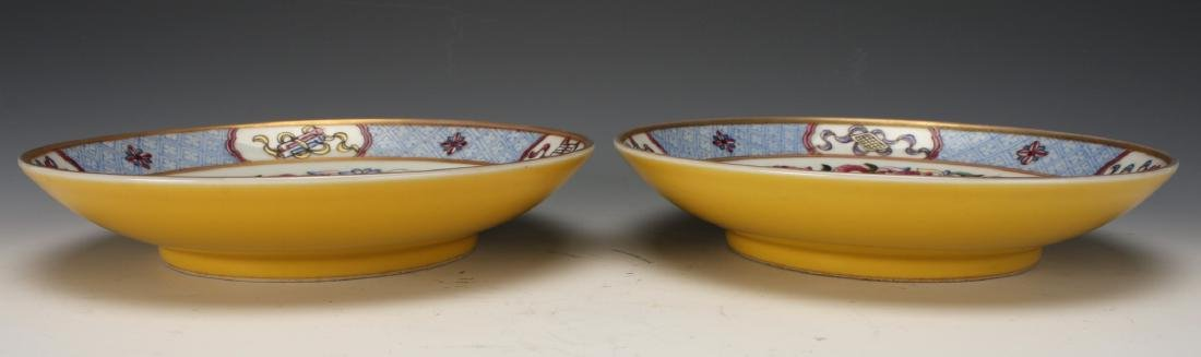 PAIR OF FAMILLE ROSE SAUCERS - 9