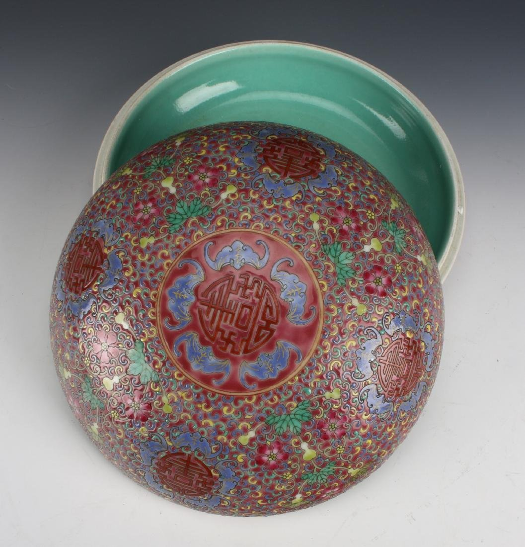 PORCELAIN LIDDED BOX - 4