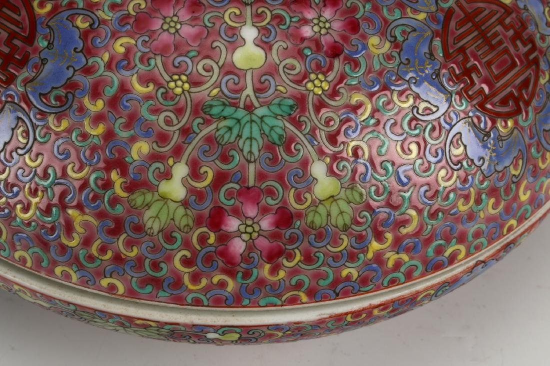 PORCELAIN LIDDED BOX - 7