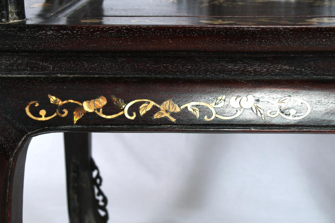 """PAIR OF ZITAN """"QUANYI"""" CHAIRS WITH NACRE INLAY - 7"""