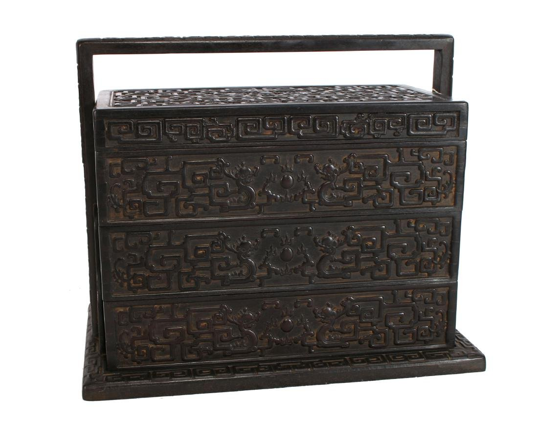 LARGE CARVED ZITAN LUNCH BOX