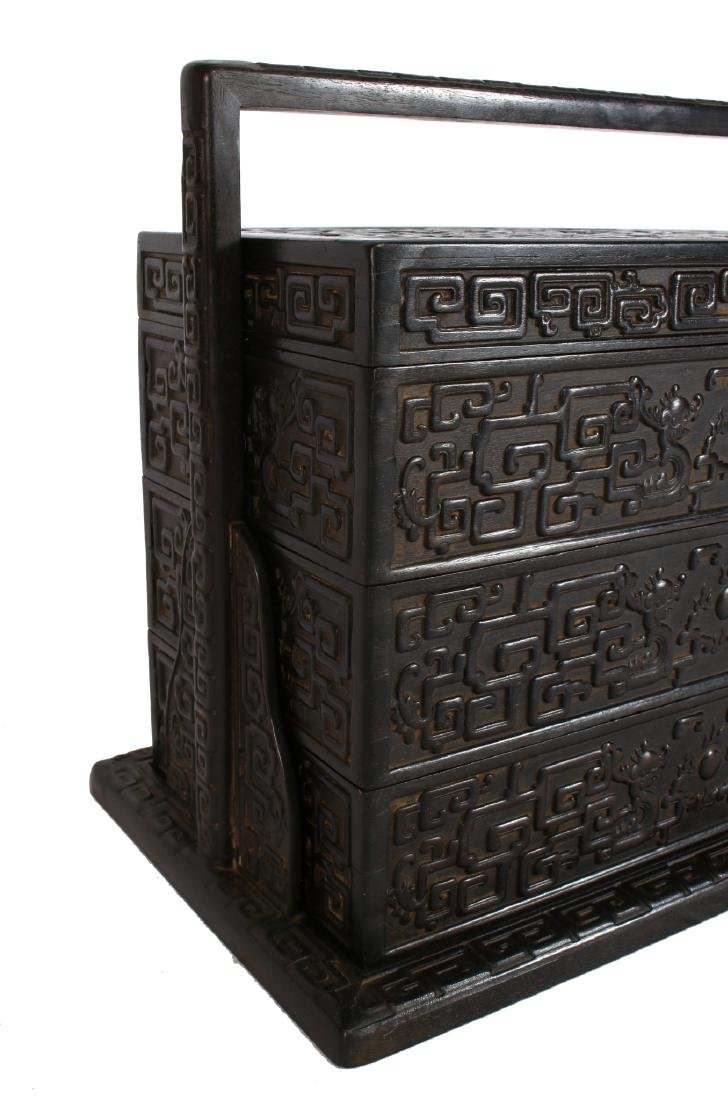 LARGE CARVED ZITAN LUNCH BOX - 2