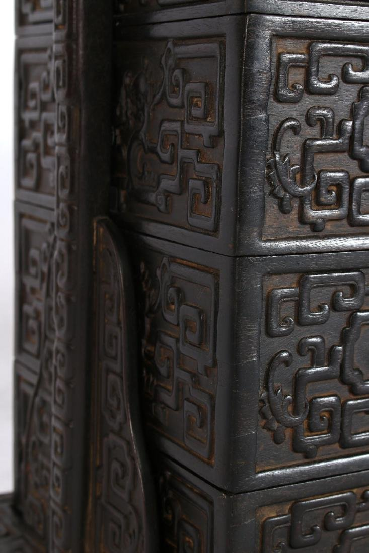 LARGE CARVED ZITAN LUNCH BOX - 3