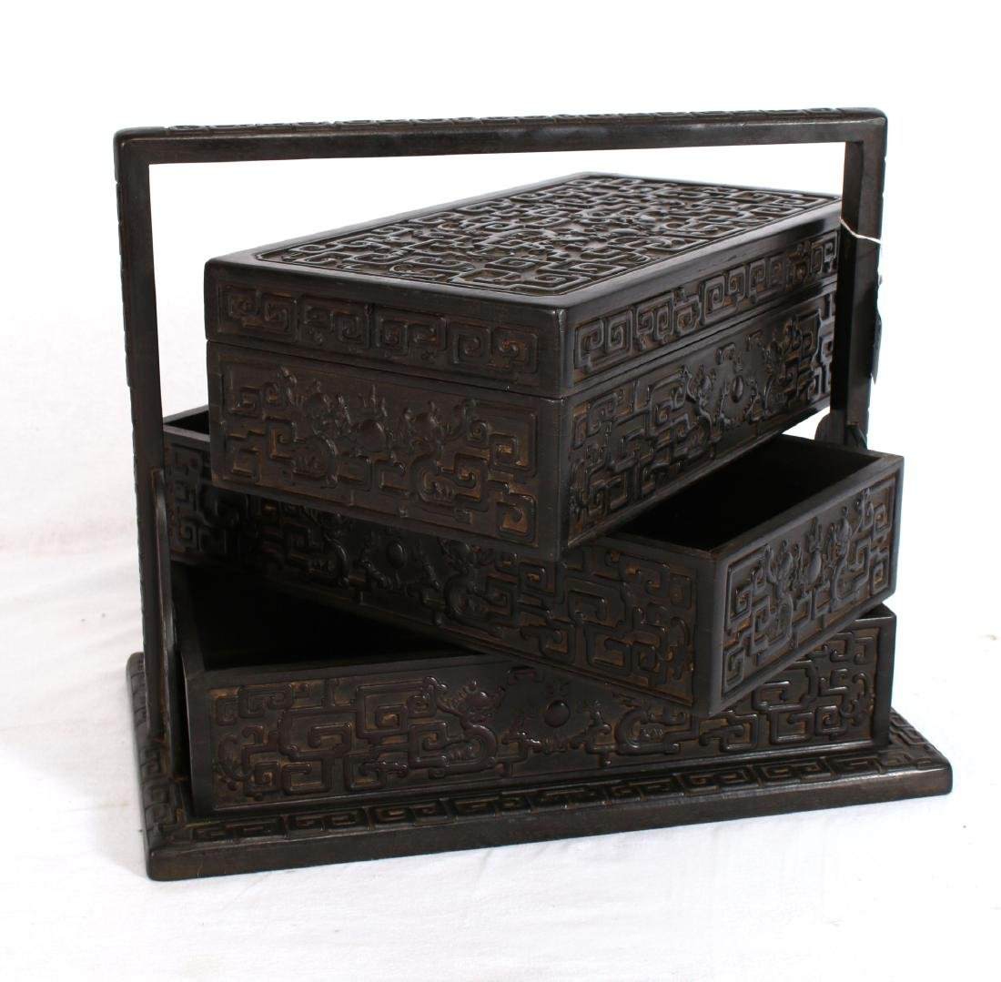 LARGE CARVED ZITAN LUNCH BOX - 5