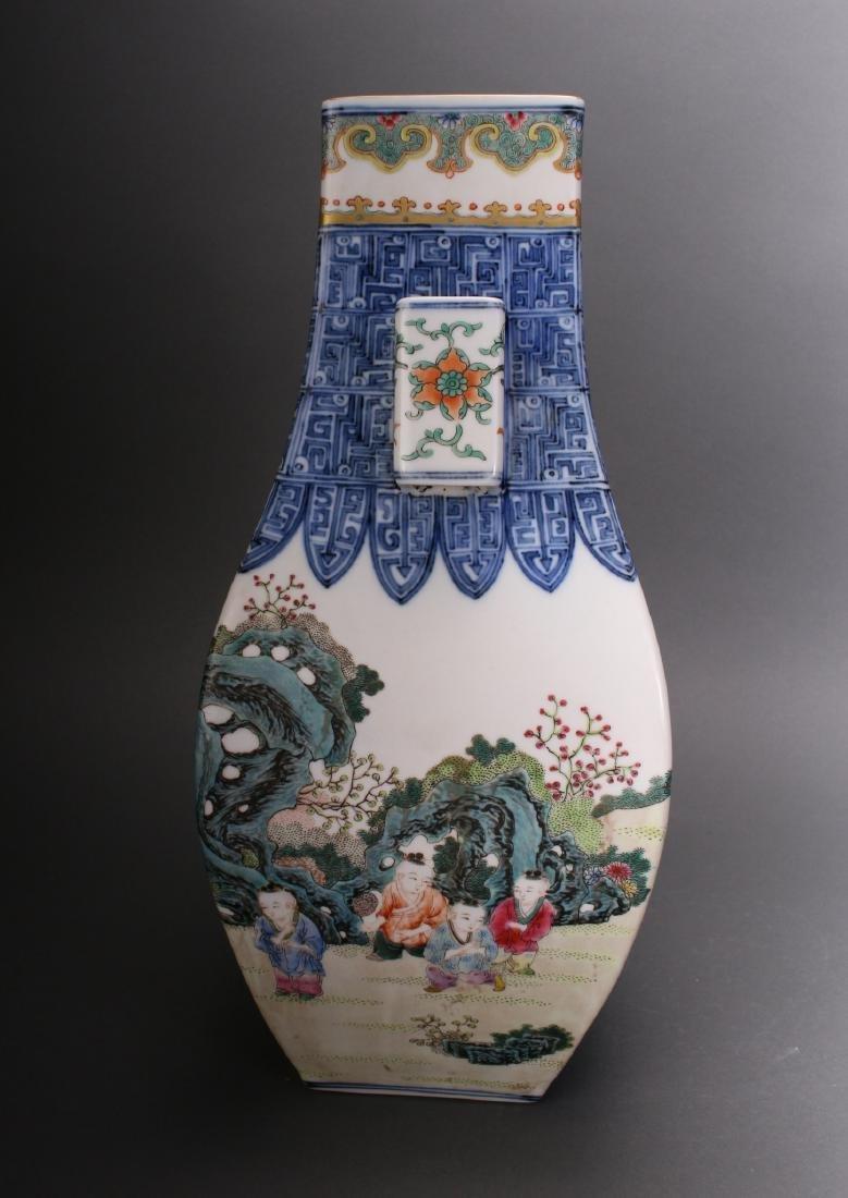 CHINESE QIAN LONG ZUN VASE - 5
