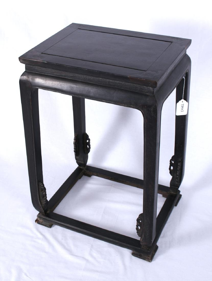 ZITAN END TABLE WITH INLAID CORNERS