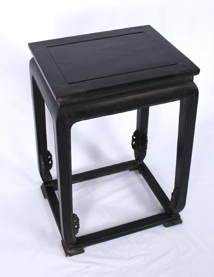 ZITAN END TABLE WITH INLAID CORNERS - 2