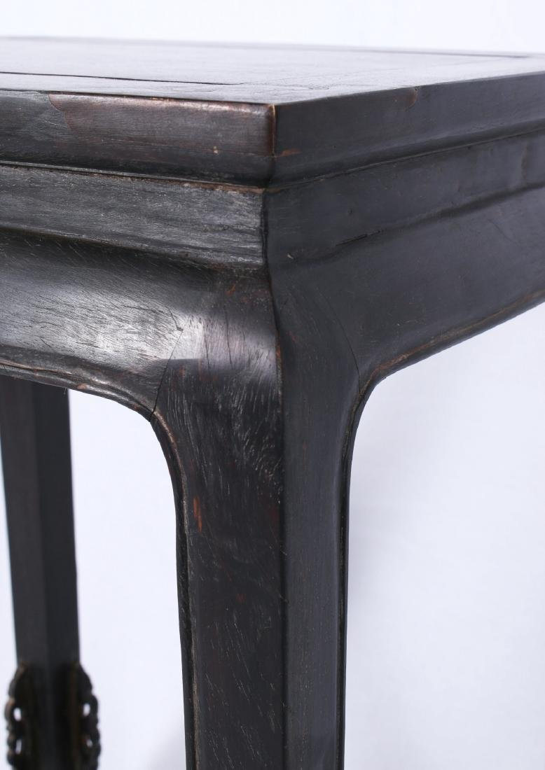 ZITAN END TABLE WITH INLAID CORNERS - 4