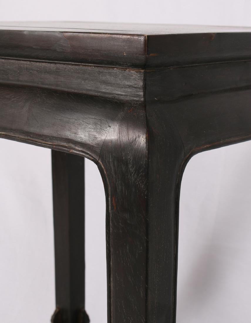ZITAN END TABLE WITH INLAID CORNERS - 5
