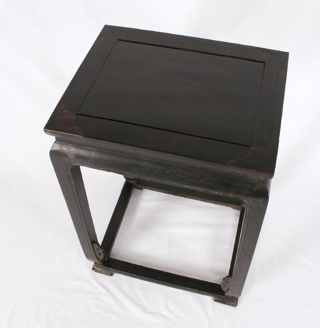 ZITAN END TABLE WITH INLAID CORNERS - 6