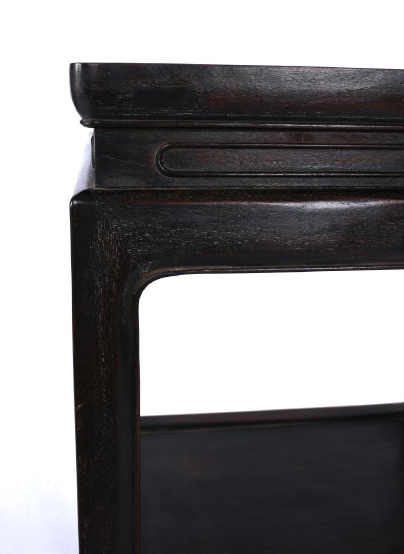SQUARE TWO-TIERED ZITAN END TABLE - 3