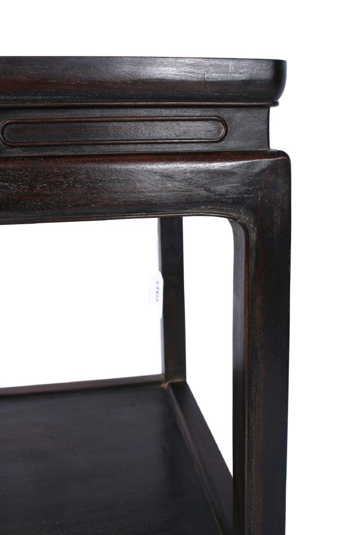 SQUARE TWO-TIERED ZITAN END TABLE - 4