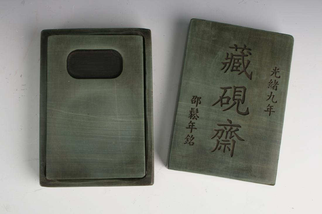 GREEN INK STONE IN BOX