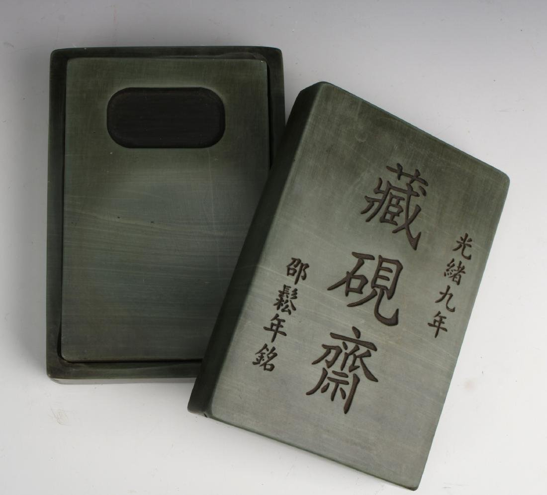 GREEN INK STONE IN BOX - 5