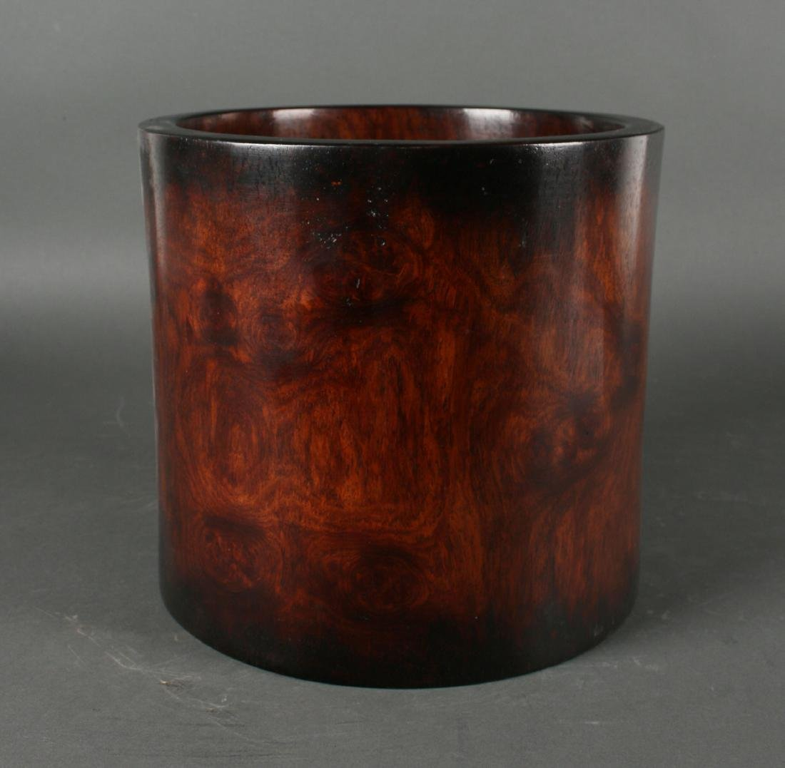 LARGE HUANG HUA LI BRUSH POT - 2
