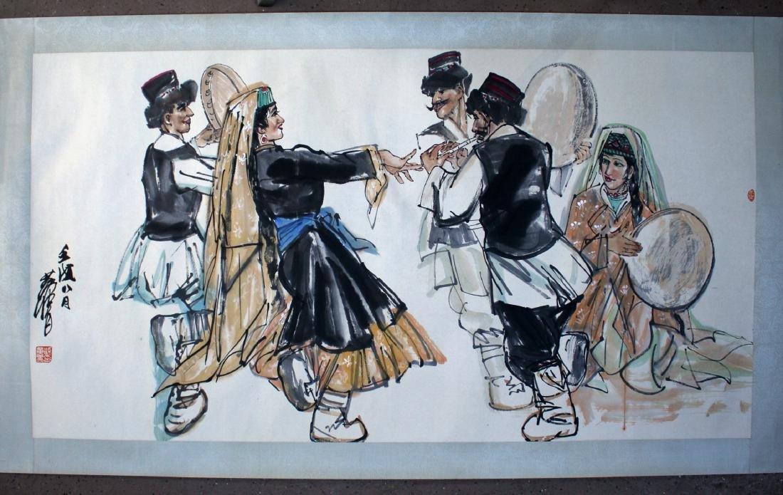 PAINTING OF DANCING PEOPLE