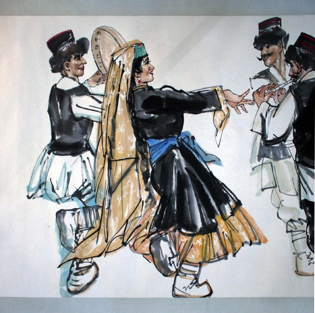 PAINTING OF DANCING PEOPLE - 4