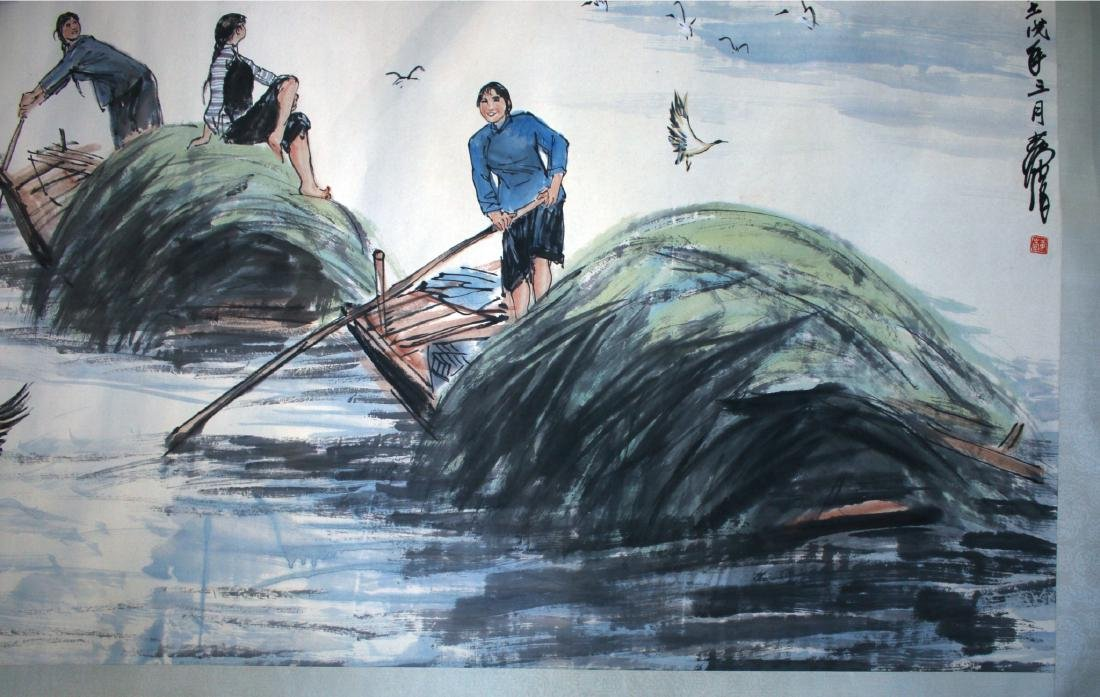 PAINTING OF A RIVER SCENE - 7