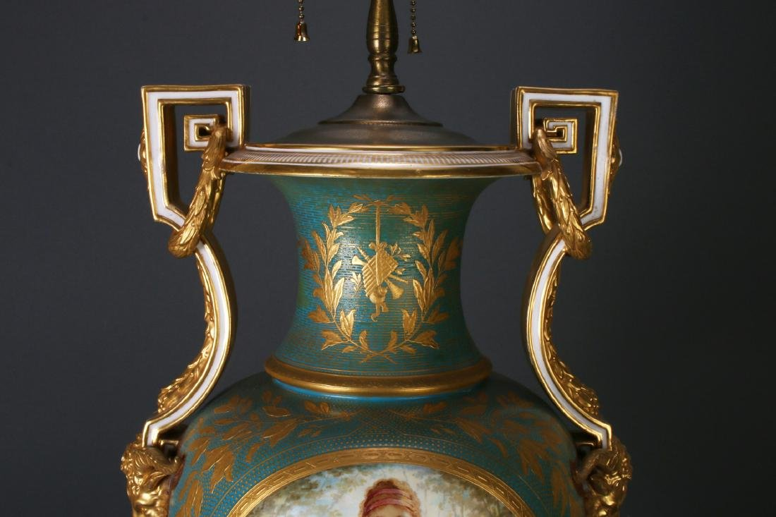 SEVRES LAMP SIGNED THOMAS ALLEN, 1877 - 10