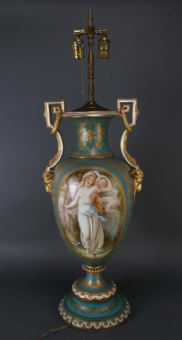 SEVRES LAMP SIGNED THOMAS ALLEN, 1877
