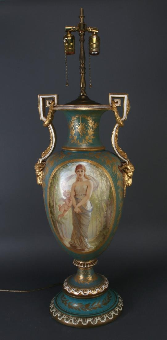 SEVRES LAMP SIGNED THOMAS ALLEN, 1877 - 2