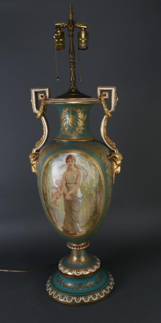 SEVRES LAMP SIGNED THOMAS ALLEN, 1877 - 3