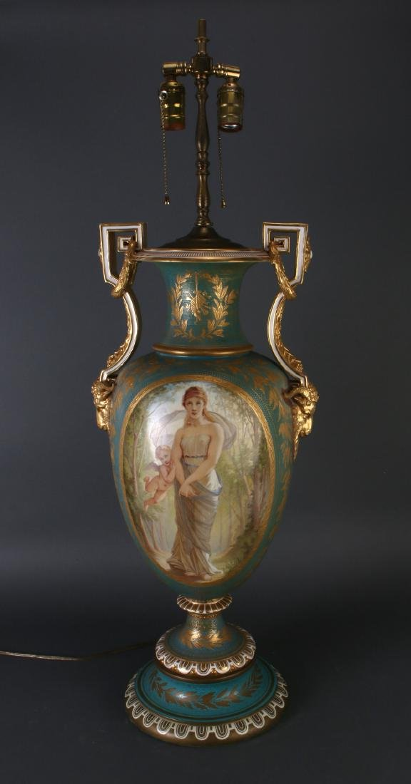 SEVRES LAMP SIGNED THOMAS ALLEN, 1877 - 5