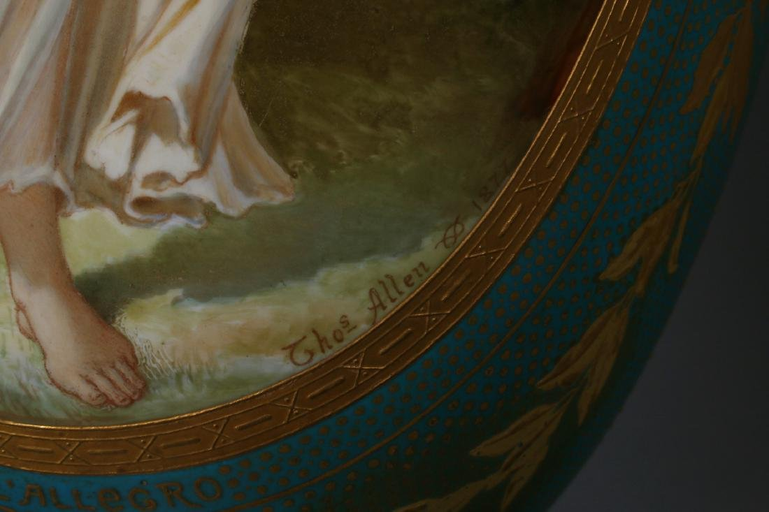 SEVRES LAMP SIGNED THOMAS ALLEN, 1877 - 6