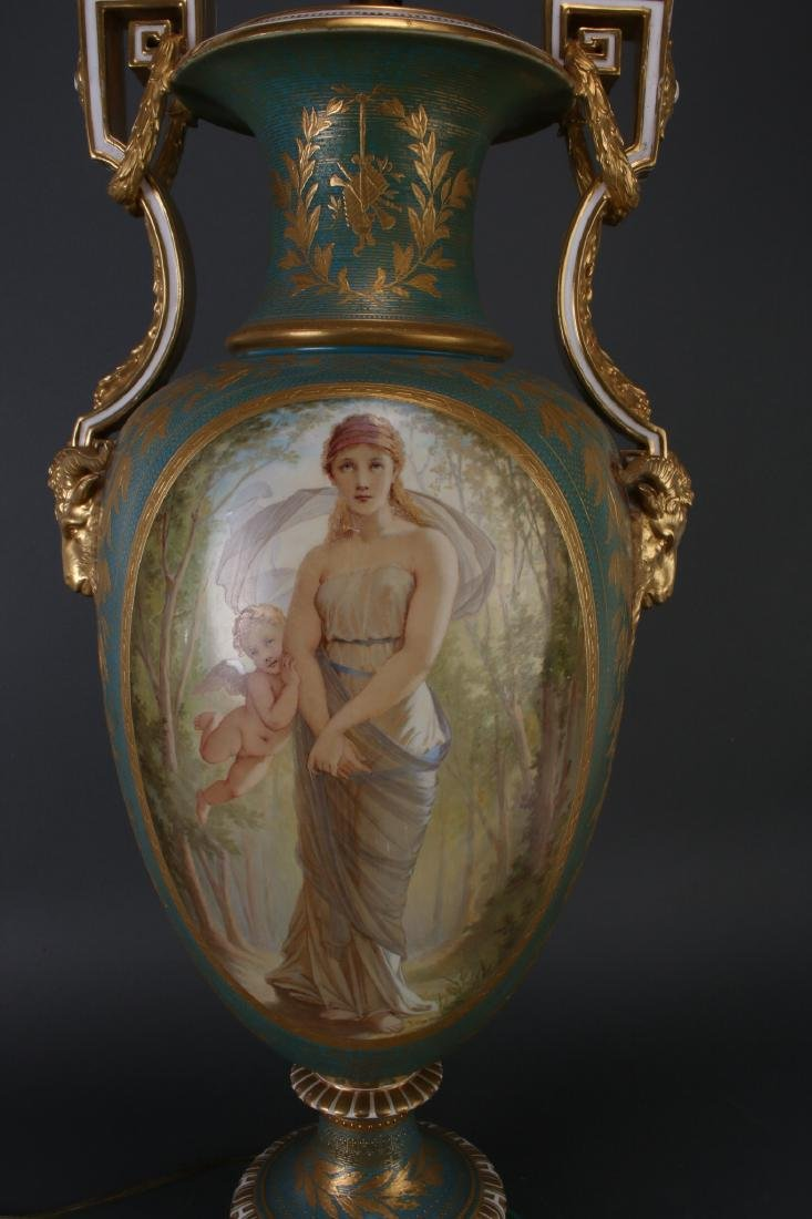 SEVRES LAMP SIGNED THOMAS ALLEN, 1877 - 7