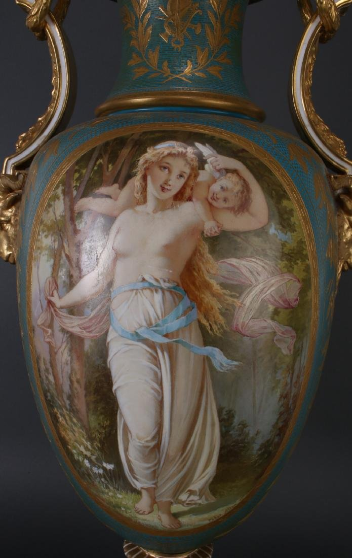 SEVRES LAMP SIGNED THOMAS ALLEN, 1877 - 8