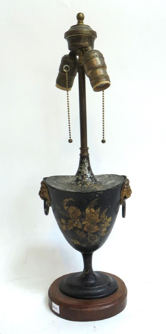 PAINTED METAL TOLE LAMP