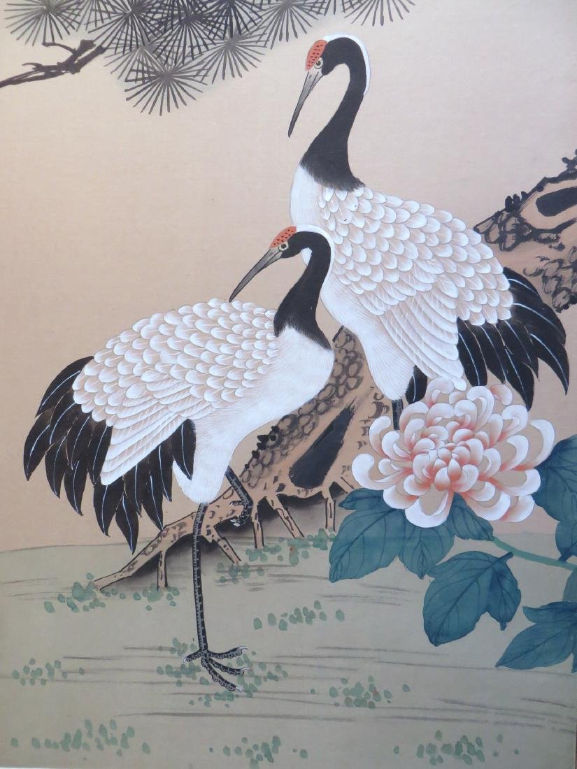 SIX PANEL JAPANESE SCREEN OF BIRDS AND FLOWERS - 2