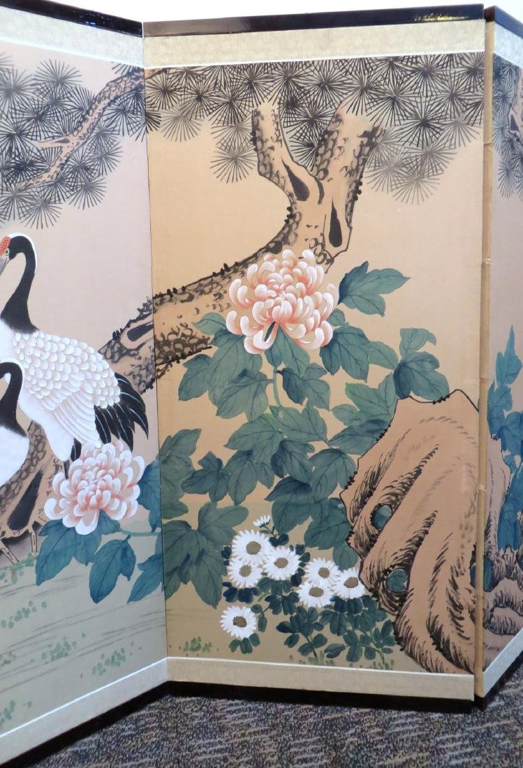 SIX PANEL JAPANESE SCREEN OF BIRDS AND FLOWERS - 3