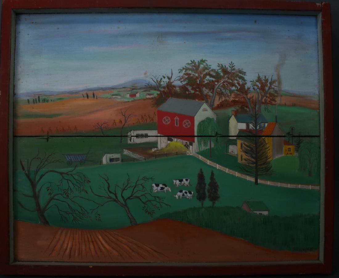 """LONG LANE FARM"" BY DAVID ELLINGER (1913-2003)"