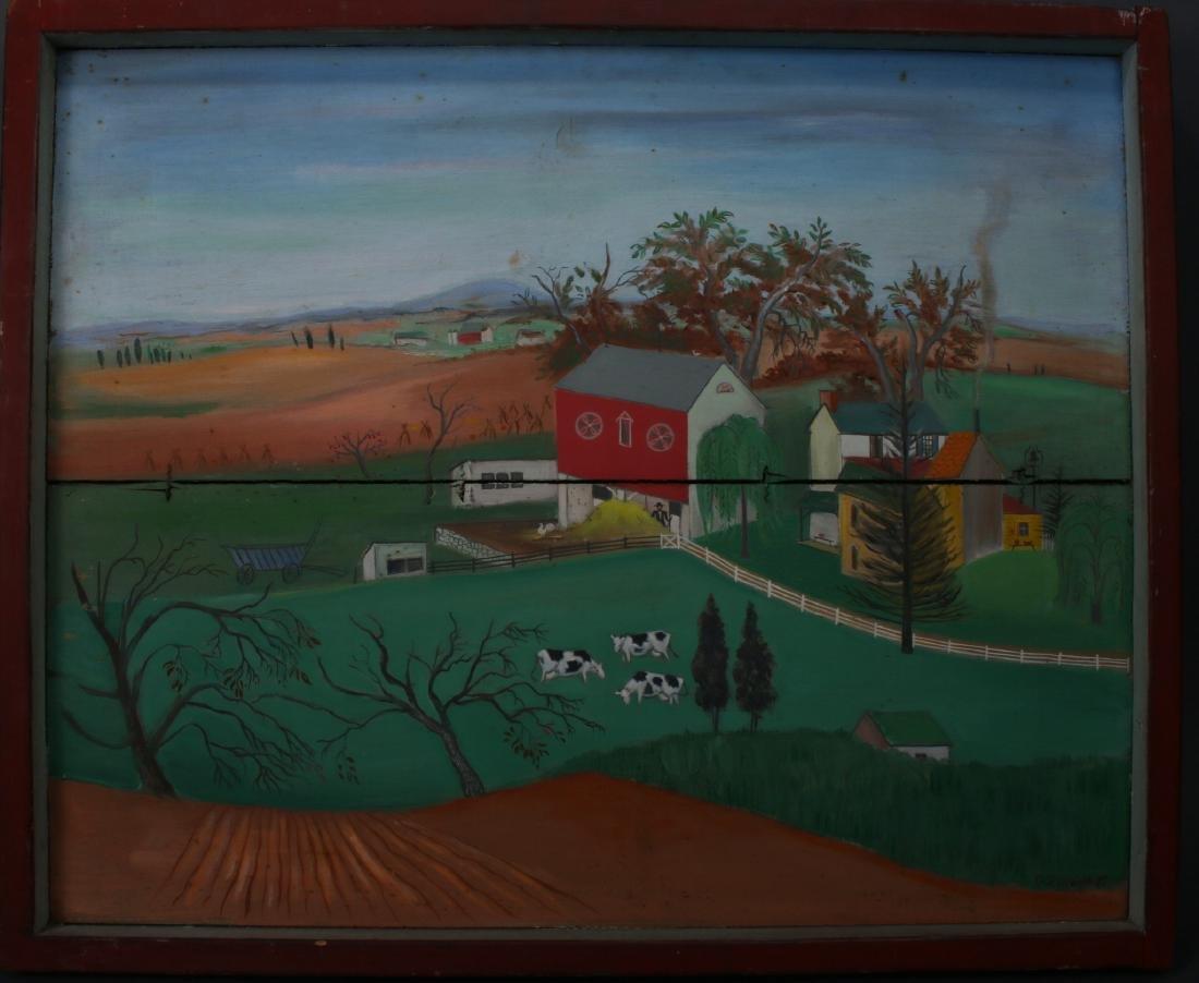 """""""LONG LANE FARM"""" BY DAVID ELLINGER (1913-2003)"""