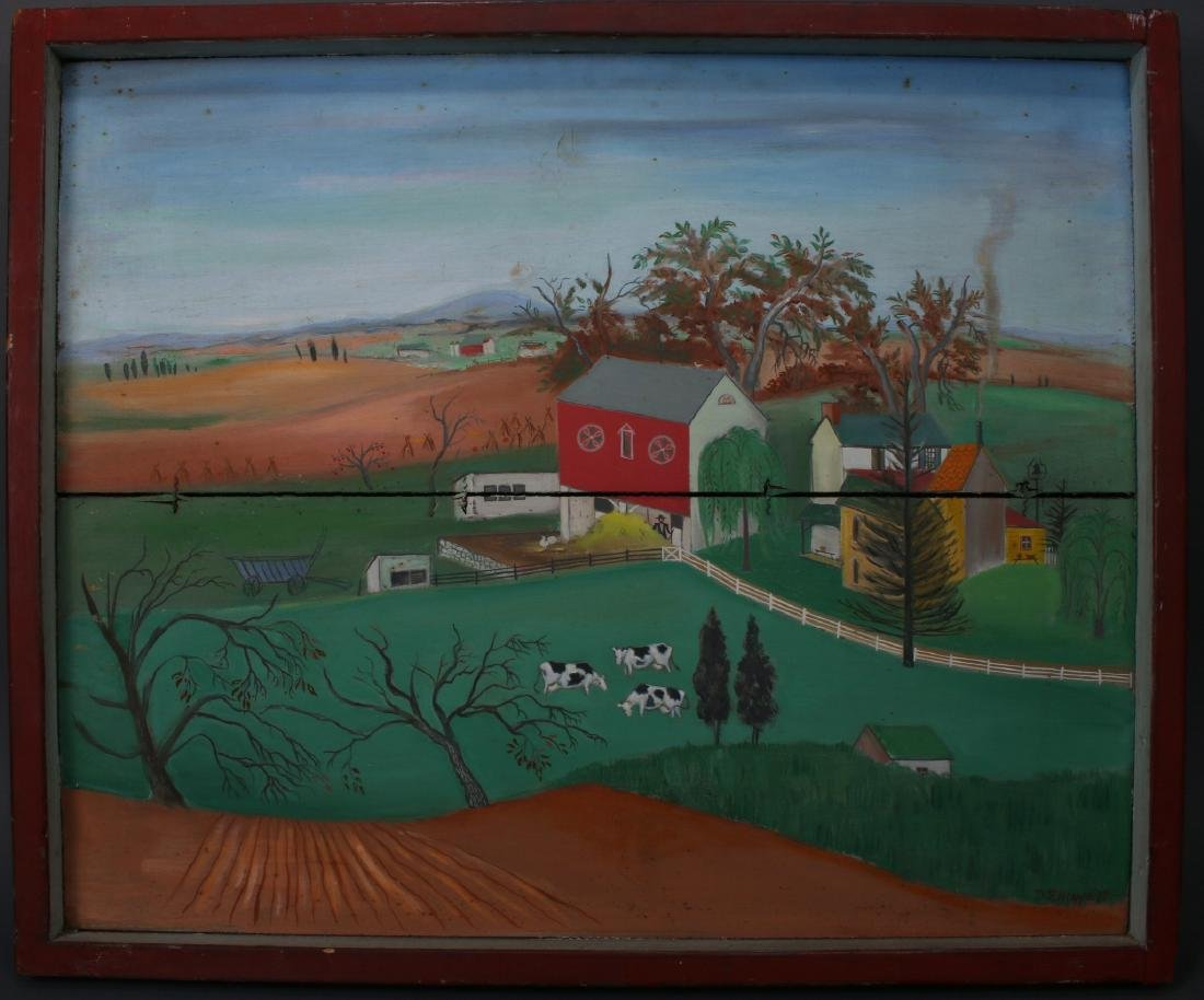 """""""LONG LANE FARM"""" BY DAVID ELLINGER (1913-2003) - 2"""
