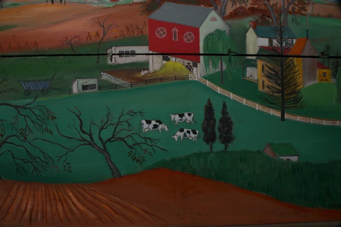 """""""LONG LANE FARM"""" BY DAVID ELLINGER (1913-2003) - 4"""