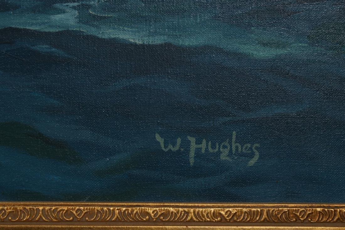 """""""W. HUGHES"""" SIGNED SEASCAPE ATTRIB AMUNDSEN - 9"""