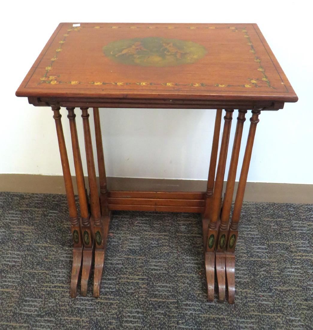 ADAM STYLE PAINTED NESTING TABLES