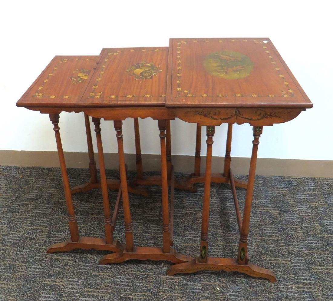 ADAM STYLE PAINTED NESTING TABLES - 2