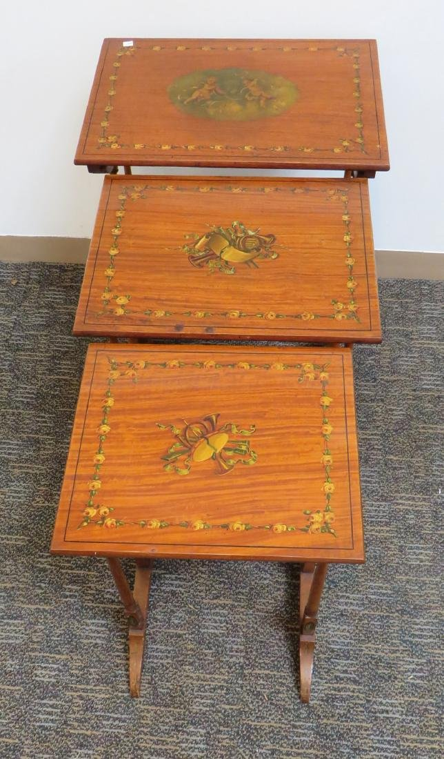 ADAM STYLE PAINTED NESTING TABLES - 4