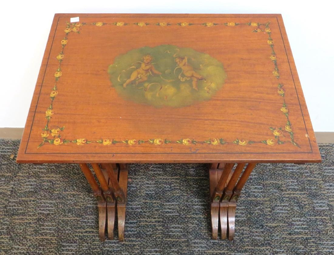 ADAM STYLE PAINTED NESTING TABLES - 5