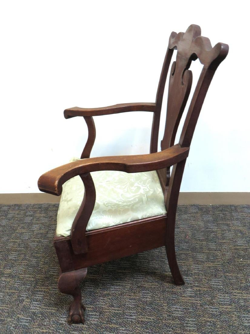 ANTIQUE CHIPPENDALE STYLE CHAIR - 5