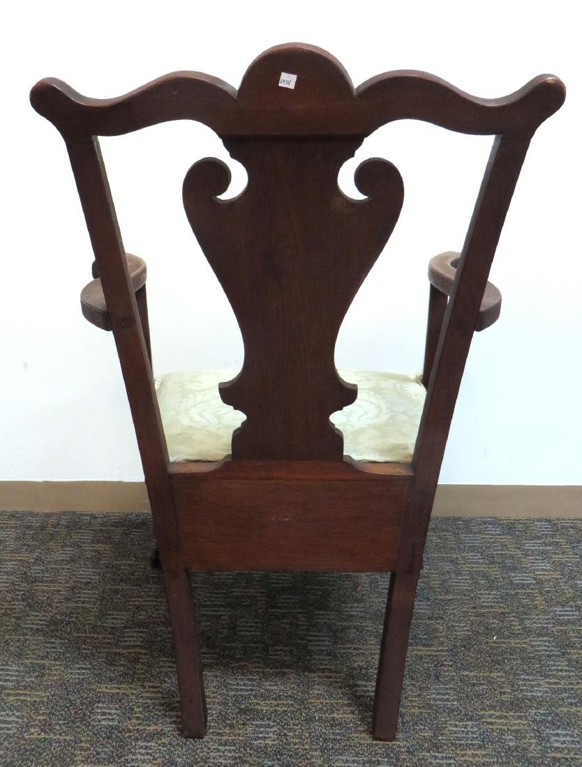 ANTIQUE CHIPPENDALE STYLE CHAIR - 6