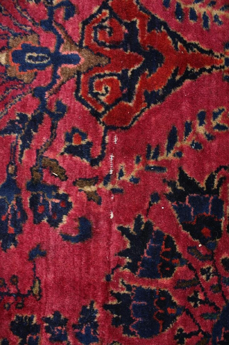 RED AND BLUE ORIENTAL RUG - 10